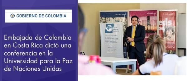 Embajada de Colombia en Costa Rica dictó una conferencia en la Universidad para la Paz